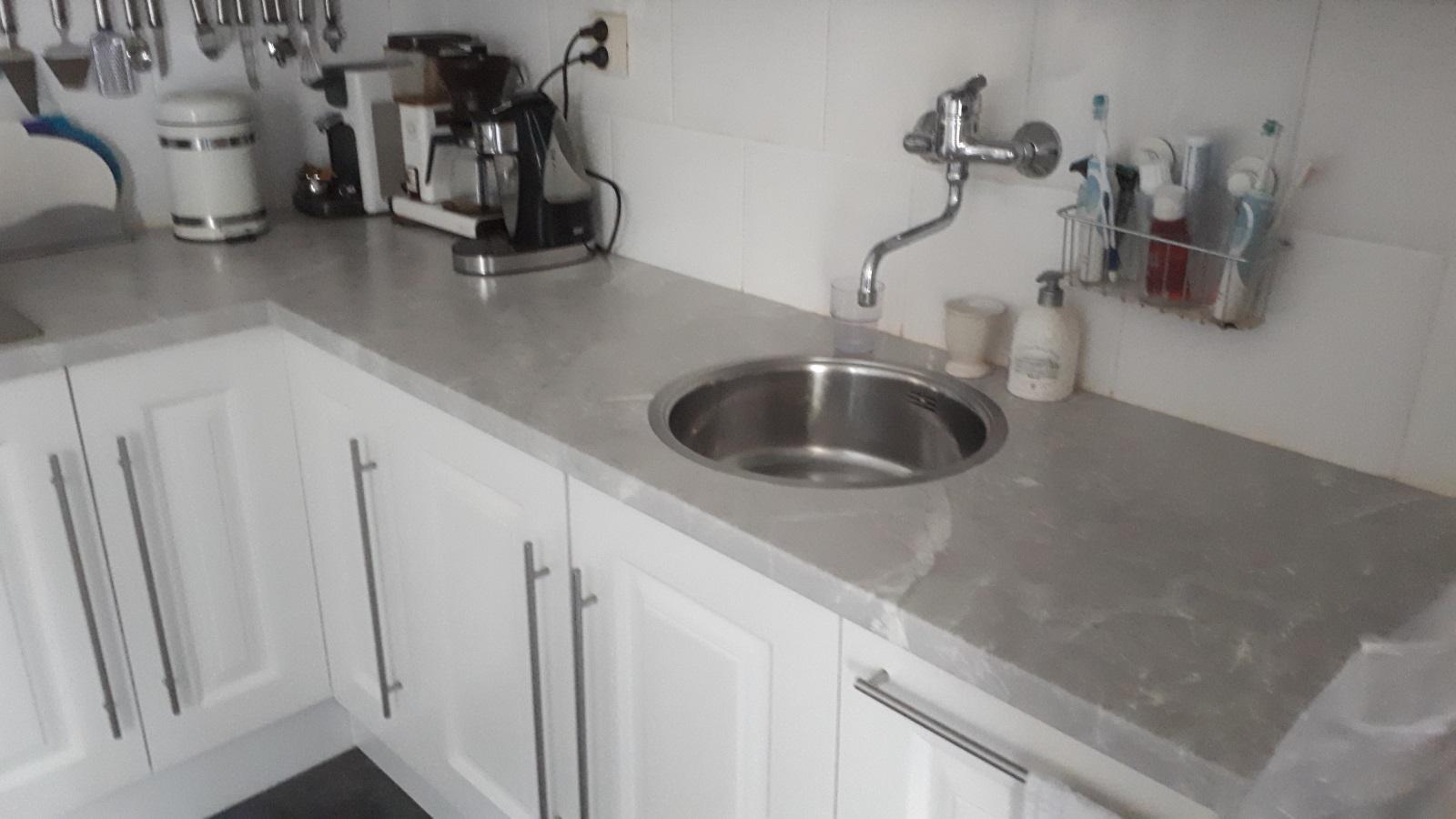 Werkblad in keuken