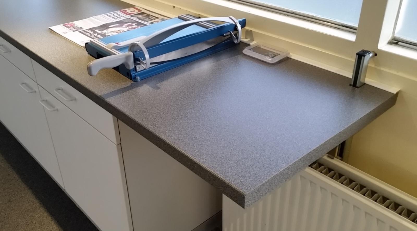 Werkblad op maat laten zagen: maatwerk tafel type echo.